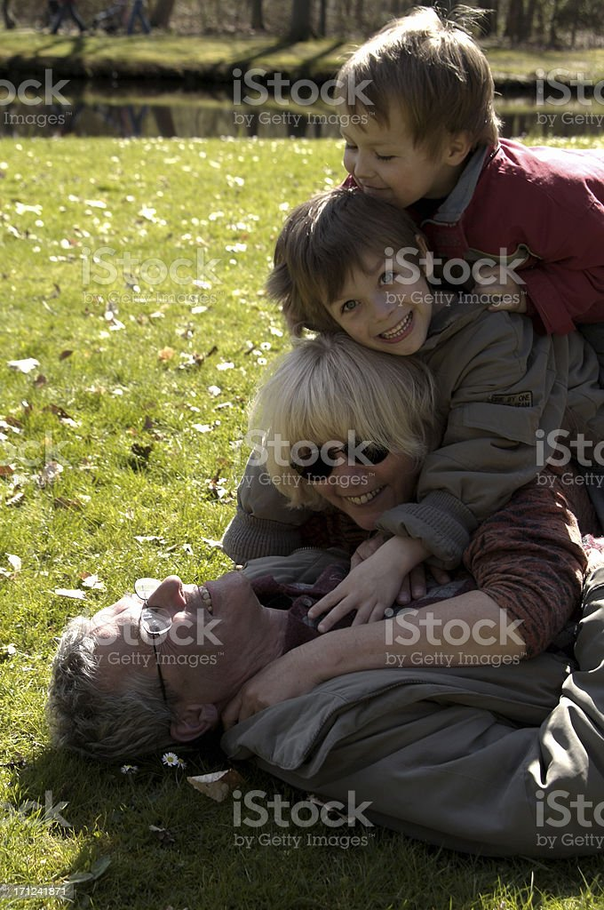 Happy Grandparents royalty-free stock photo