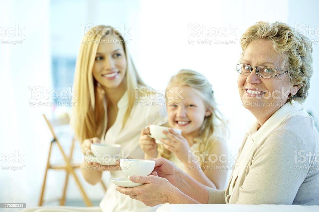 Happy granny royalty-free stock photo