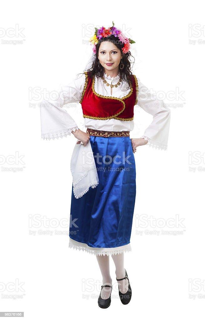 Happy Greek dancer royalty-free stock photo