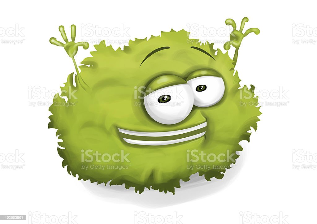 Green Smiley Face Stock Photos: Happy Green Lettuce Laughing Cartoon Character Raising