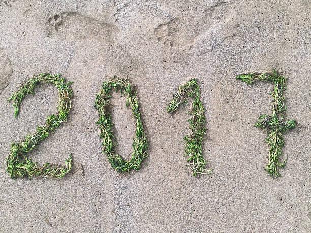 Happy green year 2017 stock photo