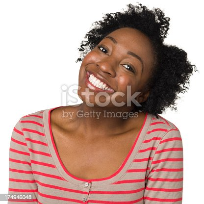 166407266istockphoto Happy Grinning Young Woman 174946048