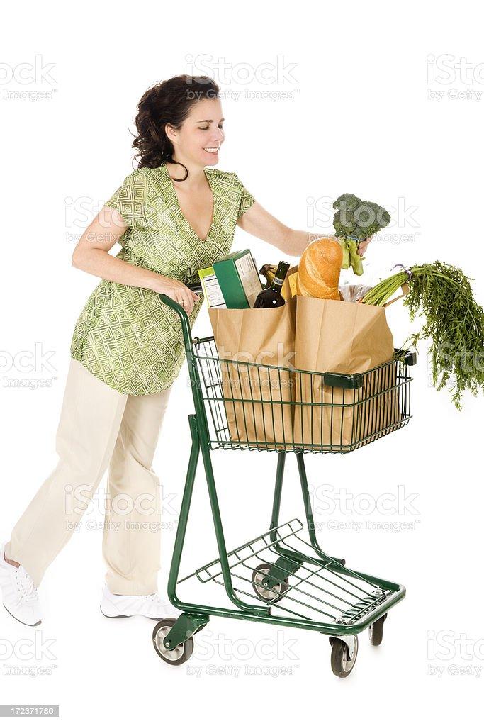 Happy Grocery Shopper royalty-free stock photo
