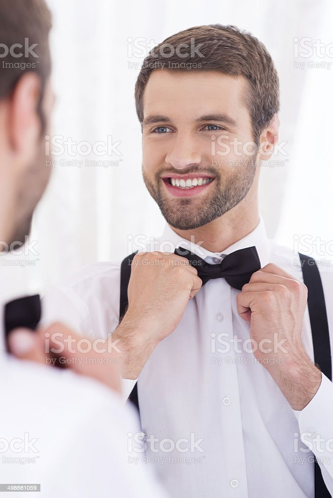 Happy groom. stock photo