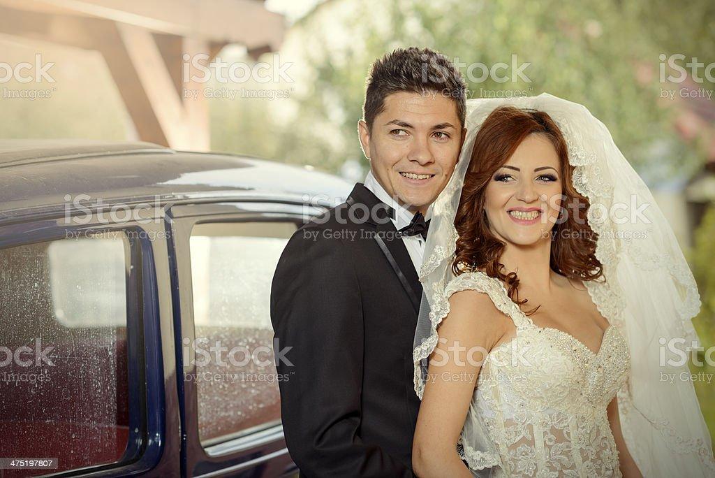 happy grooms royalty-free stock photo