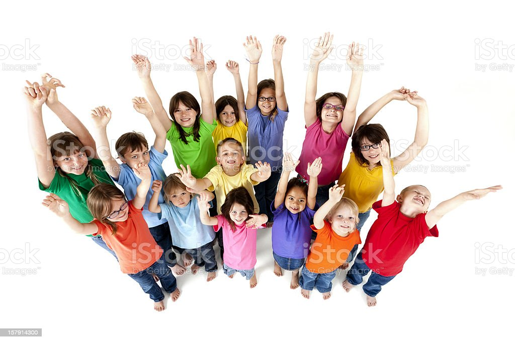 Happy Group of Children royalty-free stock photo