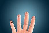 istock Happy group of finger smileys 502858363