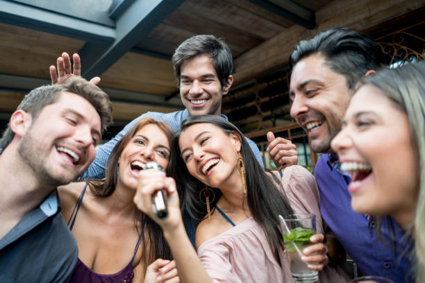 Best Karaoke Friends Stock Photos, Pictures & Royalty-Free Images