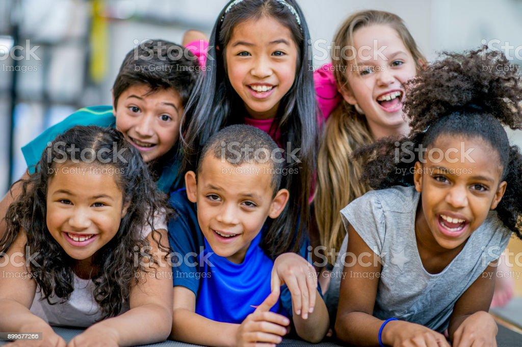 Happy Group Of Kids stock photo