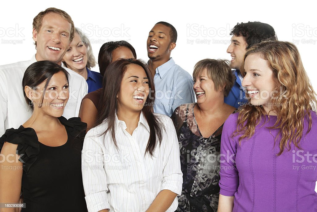 Happy Group of People Laughing Together royalty-free stock photo
