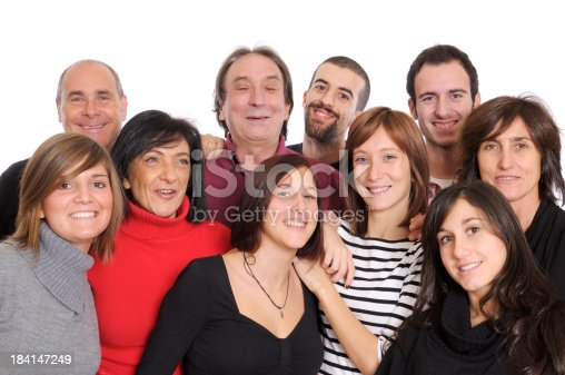 536775759istockphoto Happy Group of People,Family or Team,Isolated 184147249