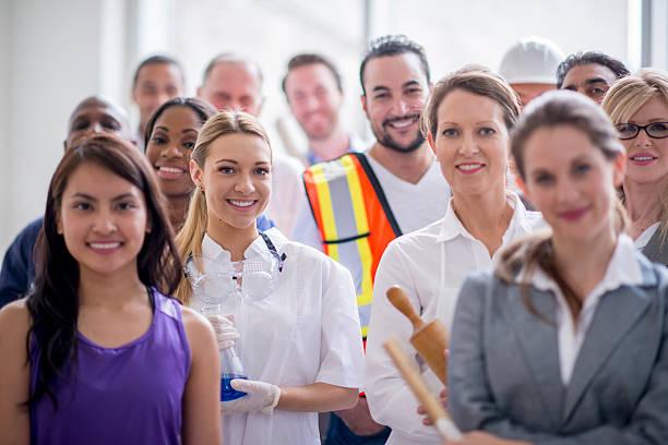 Heureux groupe de travailleurs professionnel - Photo