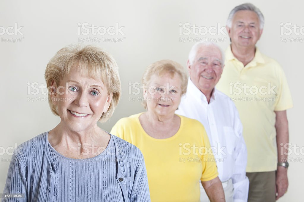 Happy group of Senior Citizens royalty-free stock photo