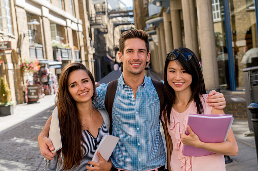Happy Group Of Students Stock Photo - Download Image Now