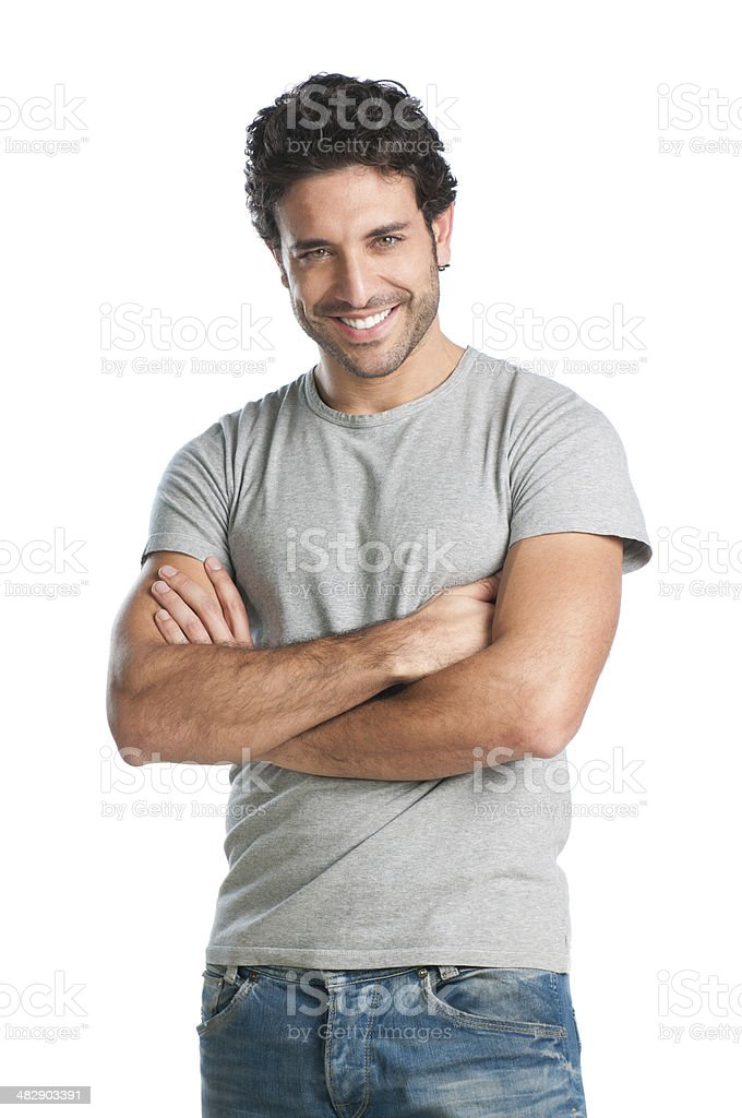 Happy guy isolated royalty-free stock photo