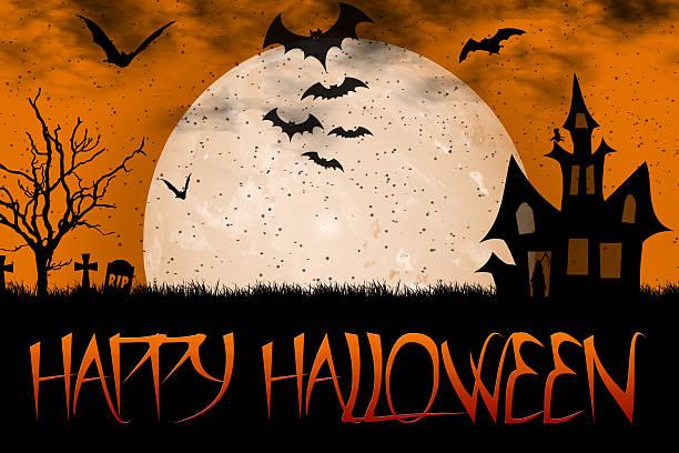 happy halloween 31 october - halloween party einladungen stock-fotos und bilder