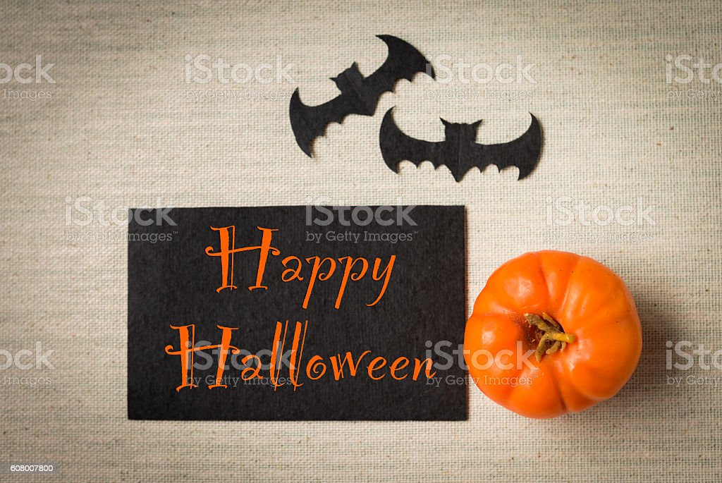 Happy Halloween card design - foto de acervo