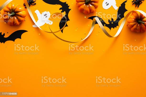 Happy halloween holiday concept halloween decorations pumpkins bats picture id1171184656?b=1&k=6&m=1171184656&s=612x612&h=n0p0xecsy pj6rlcxjbigynmog mqxmdsnx3icfkwas=