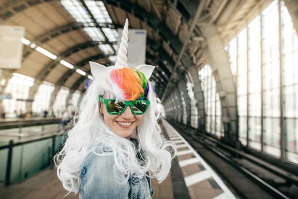 happy halloween - unicorns stock photos and pictures