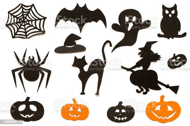 Happy halloween set silhouettes cut out of black orange paper on picture id1036568710?b=1&k=6&m=1036568710&s=612x612&h=7qgyimowdsumsdvhlimnydhb3cxqoroca4cxqmmit68=