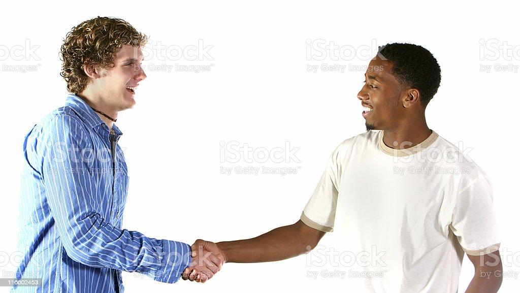 happy handshake stock photo