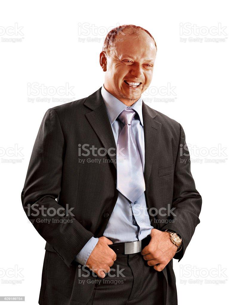 Happy handsome businessman stock photo