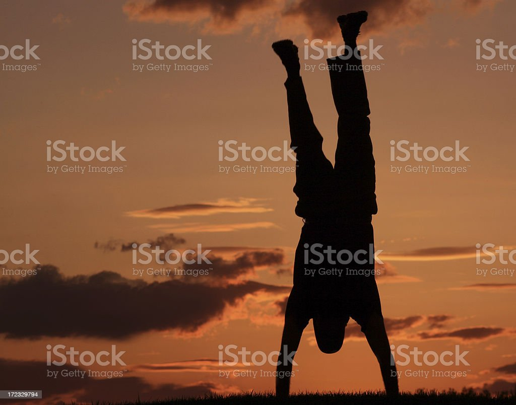 Happy Handstand royalty-free stock photo