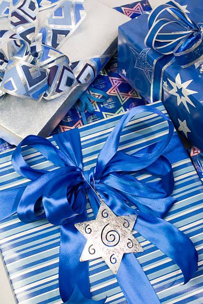 Happy Hanukkah Gifts stock photo