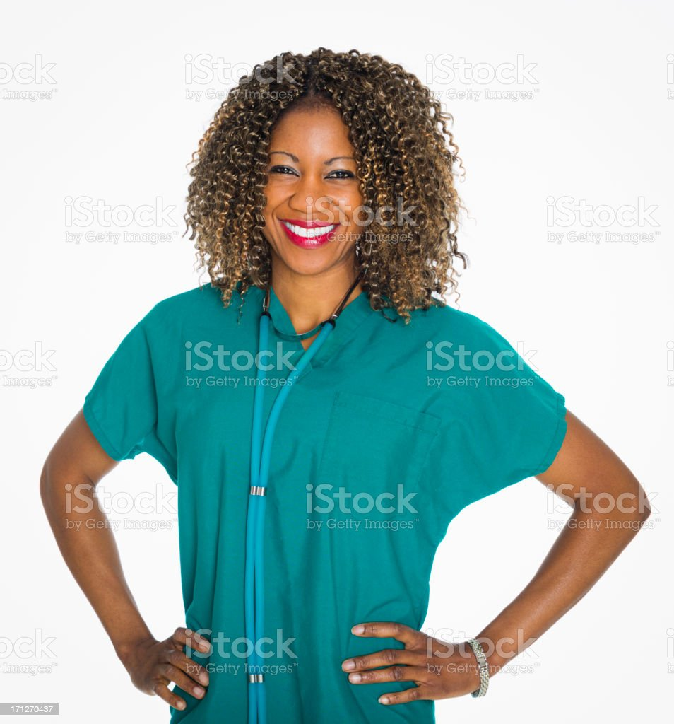 Happy Healthcare Worker royalty-free stock photo