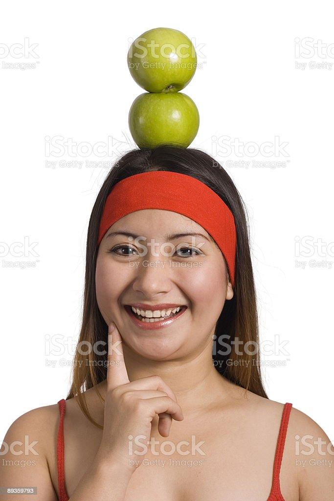 Happy healthy woman royaltyfri bildbanksbilder