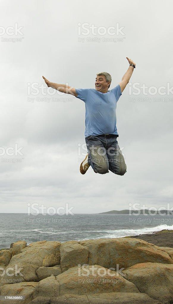 Happy High Jump stock photo