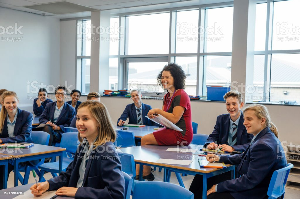 Happy High School Lesson - Royalty-free Adolescence Stock Photo