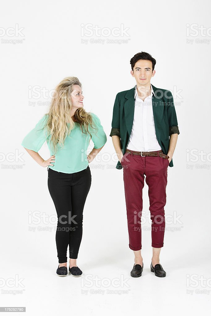 Happy Hip Young Couple royalty-free stock photo