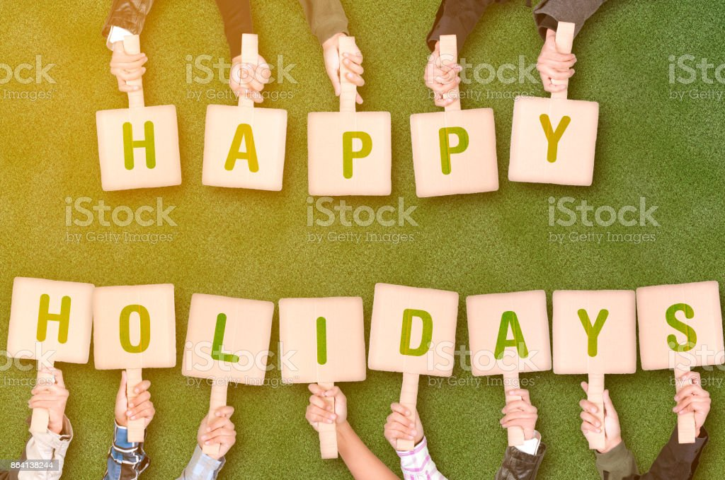 Happy holiday placards royalty-free stock photo
