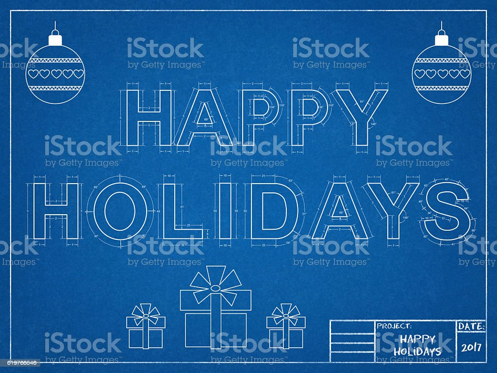 Happy Holidays 2017 - Blueprint – Foto