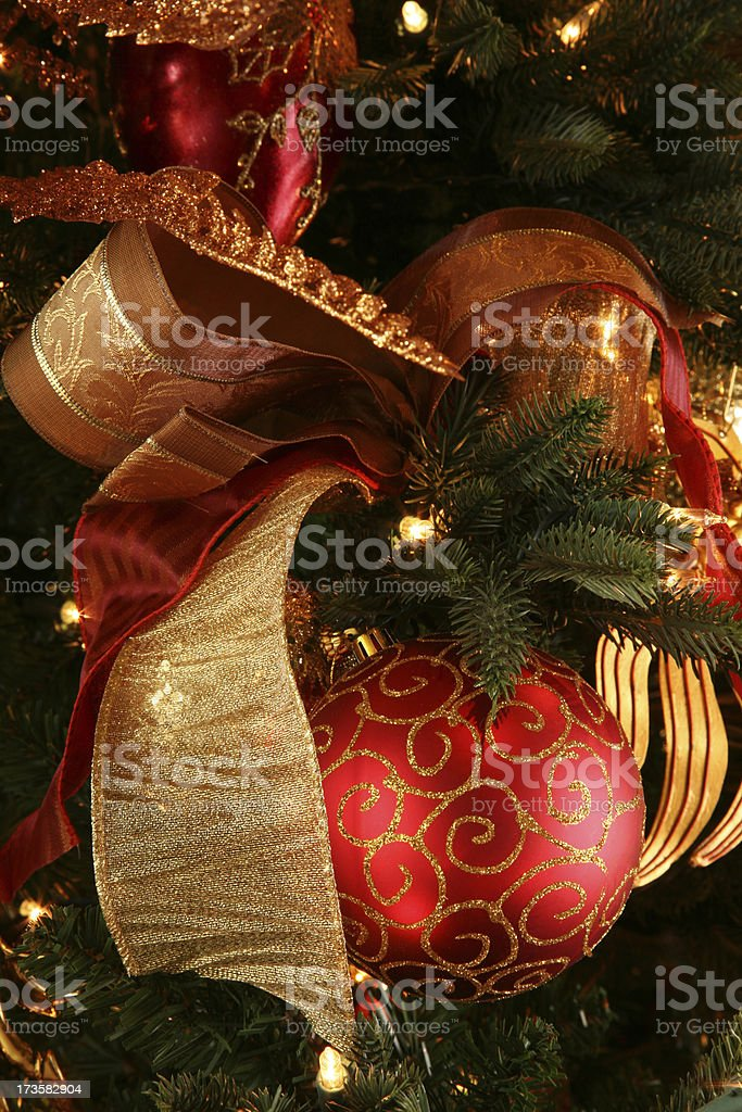 Happy Holidays ... Christmas Ornament hanging on Christmas tree.