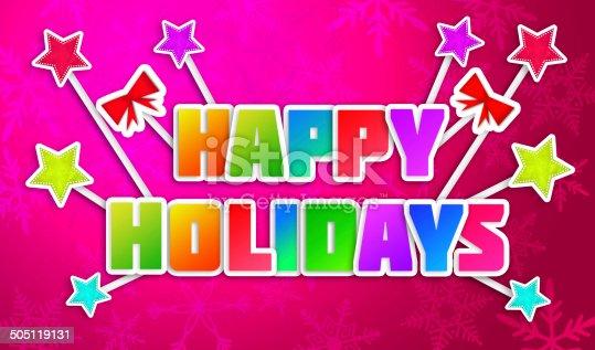 527392693 istock photo Happy Holidays Greeting Art Paper Card 505119131