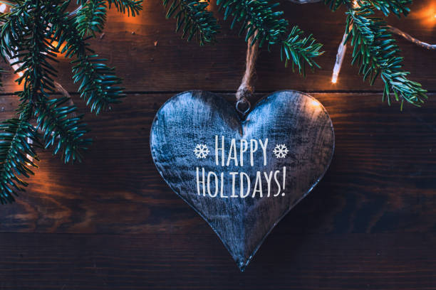 happy holidays greeting card - happy holidays stock pictures, royalty-free photos & images
