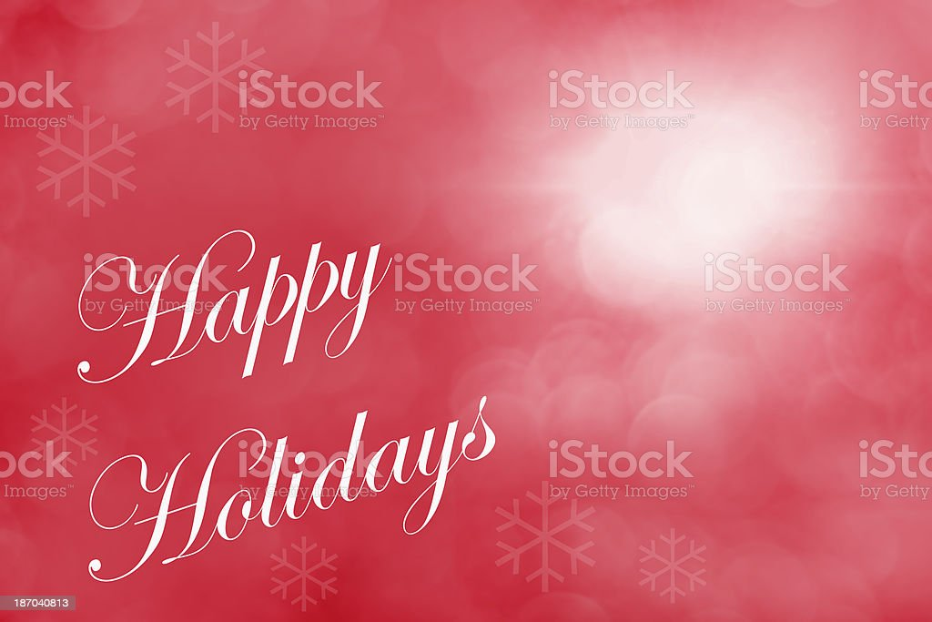 Happy Holidays Red Background royalty-free stock photo