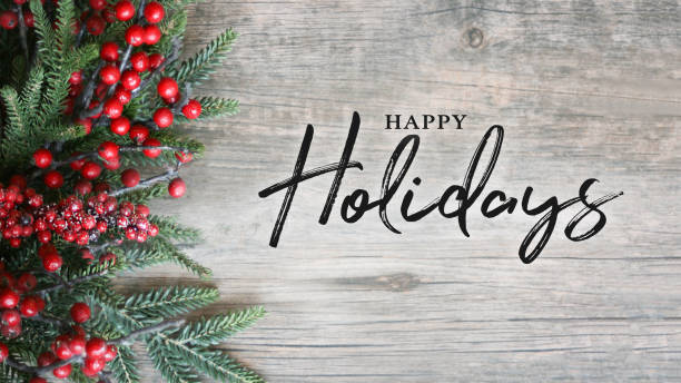 Happy holidays text with holiday evergreen branches and berries over picture id880147466?b=1&k=6&m=880147466&s=612x612&w=0&h=btfs1 mh4o5vkl9xghwkagariqihpvitulxxdda0vii=