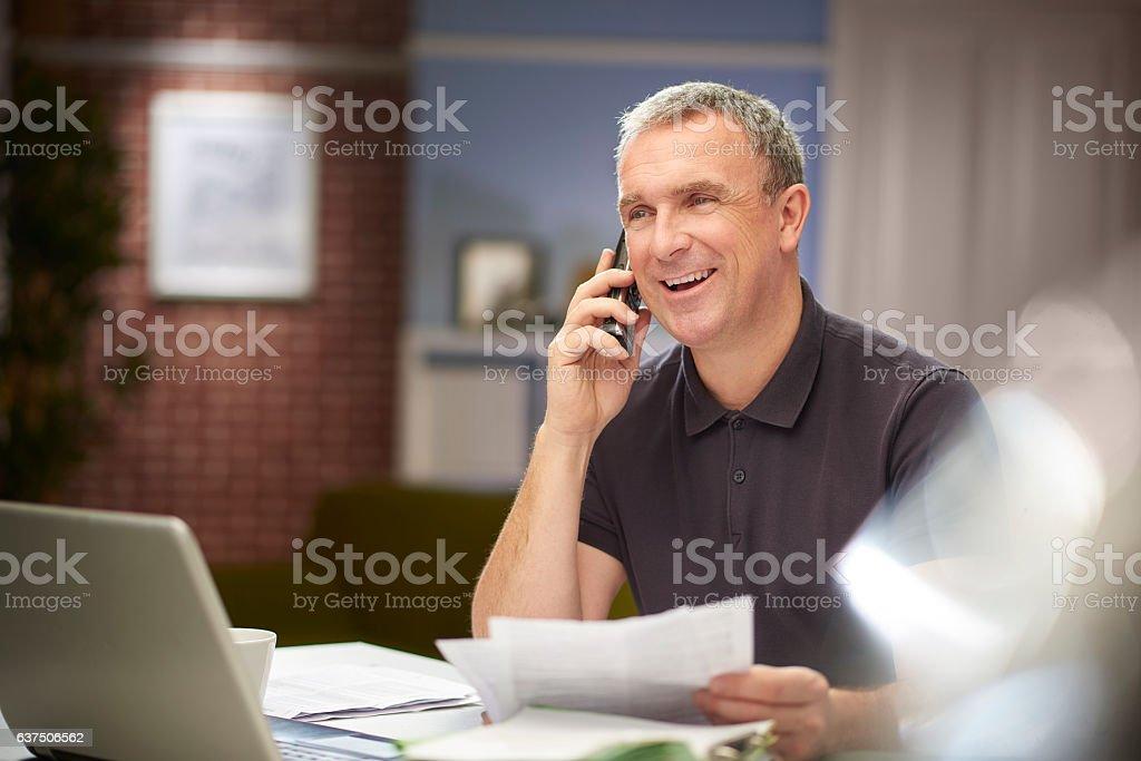 happy home finances stock photo