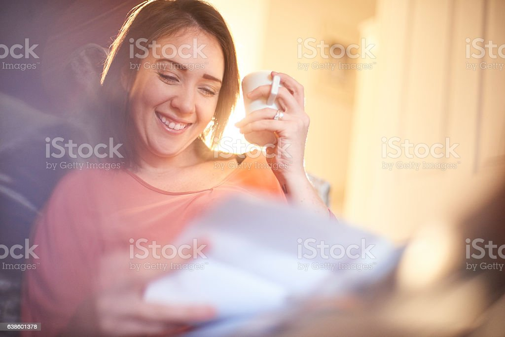 happy home finances stock photo