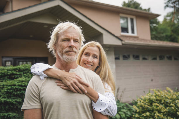 Happy Home Owners stock photo