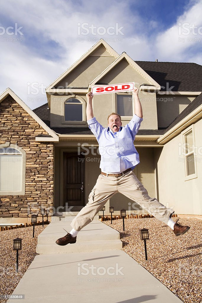 Happy Home Seller royalty-free stock photo