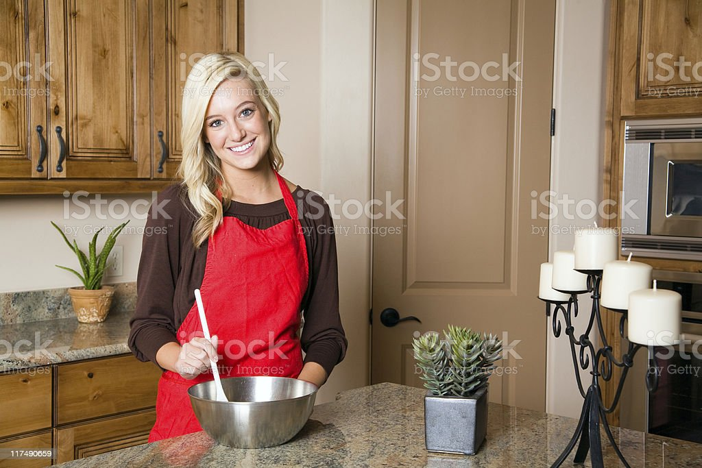 Happy Homemaker royalty-free stock photo
