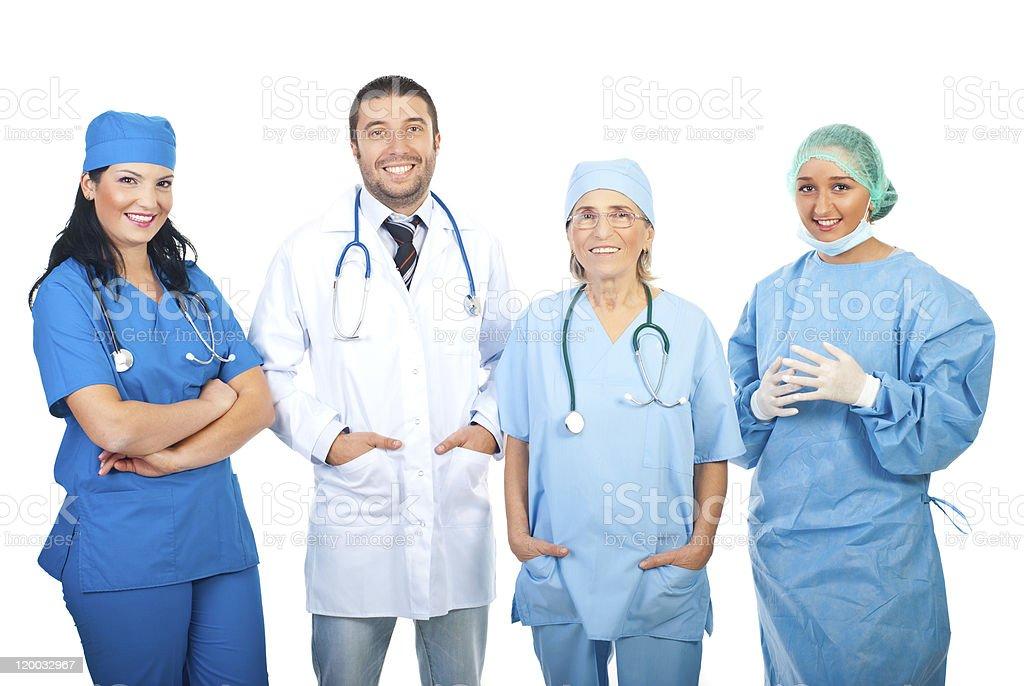 Happy hospital doctors royalty-free stock photo