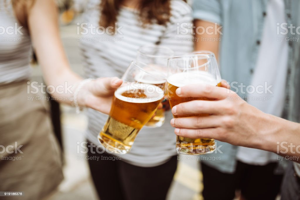happy hour in london stock photo
