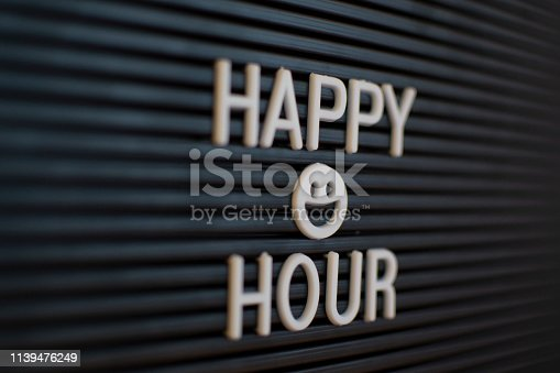 istock Happy Hour - Marquee sign (click for more) 1139476249