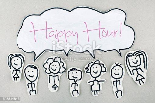 istock Happy Hour Sign 528814845
