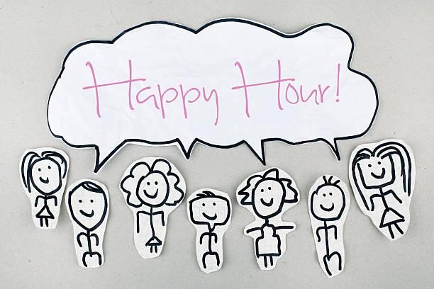 happy hour - - einladungskarten kostenlos stock-fotos und bilder